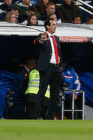 30.10.2013 SPAIN -  La Liga 13/14 Matchday 11th  match played between Real Madrid CF vs Sevilla Futbol Club at Santiago Bernabeu stadium. The picture show Unai Emery Etxegoien (Coach of Sevilla F.C.)