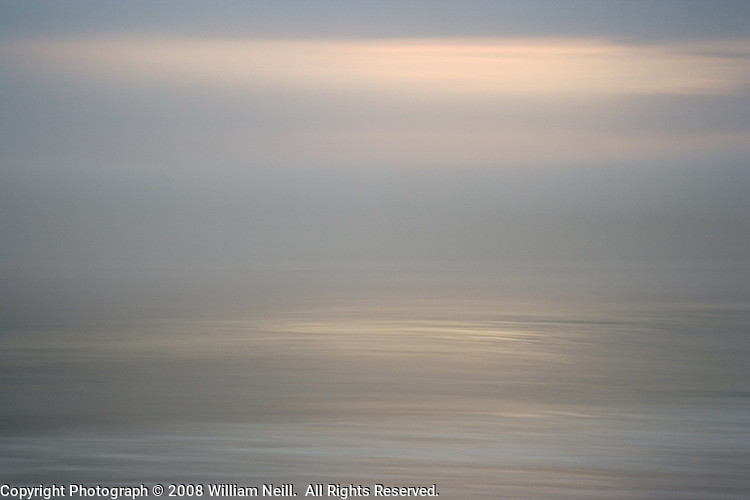 Light on the sea, Big Sur,  California  2006