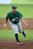 Jamestown Jammers pitcher Gregory Nappo #43 during a game against the Batavia Muckdogs at Dwyer Stadium on June 27, 2011 in Batavia, New York.  Batavia defeated Jamestown 4-3.  (Mike Janes/Four Seam Images)