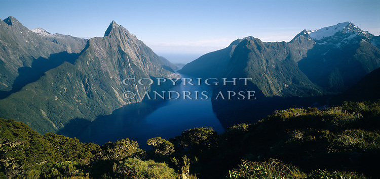 Mitre Peak and Milford Sound. Fiordland National Park. New Zealand