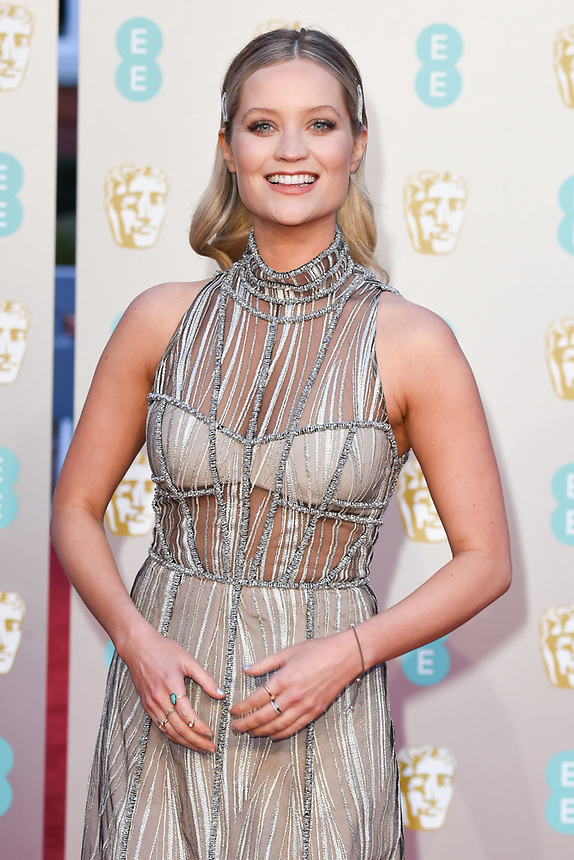 Laura Whitmore<br /> arriving for the BAFTA Film Awards 2019 at the Royal Albert Hall, London<br /> <br /> ©Ash Knotek  D3478  10/02/2019