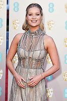 Laura Whitmore<br /> arriving for the BAFTA Film Awards 2019 at the Royal Albert Hall, London<br /> <br /> ©Ash Knotek  D3478  10/02/2019