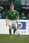 Dublin Ireland, Ireland's No 11 Damien Duff during the friendly international soccer match in Lansdowne Road, Stadium, Dublin, Irelande, 29/3/05.Photo AFP/NEWSFILE/FRAN CAFFREY..(Photo credit should read  AFP Photo FRAN CAFFREY/NEWSFILE)...This Picture has been sent you under the condtions enclosed by:.Newsfile Ltd..the Studio,.Millmount Abbey,.Drogheda,.Co Meath..Ireland..Tel: +353(0)41-9871240.Fax: +353(0)41-9871260.GSM: +353(0)86-2500958.email: pictures@newsfile.ie.www.newsfile.ie.FTP: 193.120.102.198..This picture is from Fran Caffrey@newsfile.ie