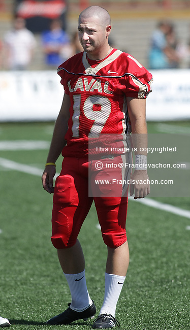 Profile photo of Universite Laval Rouge et Or CIS football player Christopher Milo during a game against the Concordia Stinger at the Stade du PEPS in Quebec city September 6 2009