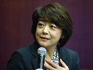 Washington, DC - December 3, 2015: The Honorable Aiko Shimajiri, Minister of State for Okinawa and Northern Territory Affairs, participates in the 'U.S.-Japan Soft Power Alliance' forum at the Center for Strategic and International Studies in the District of Columbia.  December 3, 2015  (Photo by Don Baxter/Media Images International)