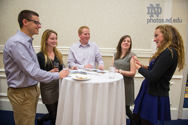 Oct. 17, 2013; Ireland Internship Reception. Photo by Barbara Johnston/University of Notre Dame
