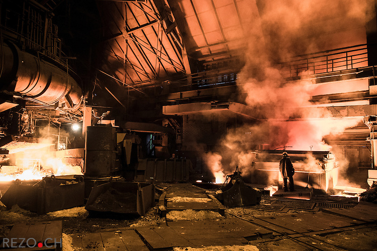 Donetsk, Ukraine. 6 december 2013. Athmosphere on the Metalurgical complex of Donetsksteel