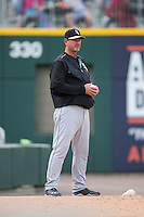 Chicago White Sox pitching coach Bobby Thigpen (37) during the game against the Charlotte Knights at BB&T Ballpark on April 3, 2015 in Charlotte, North Carolina.  The Knights defeated the White Sox 10-2.  (Brian Westerholt/Four Seam Images)