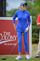 Natalie Gulbis (USA) shares a laugh on the first tee during round 1 of  the Volunteers of America LPGA Texas Classic, at the Old American Golf Club in The Colony, Texas, USA. 5/4/2018.<br /> Picture: Golffile | Ken Murray<br /> <br /> <br /> All photo usage must carry mandatory copyright credit (&copy; Golffile | Ken Murray)