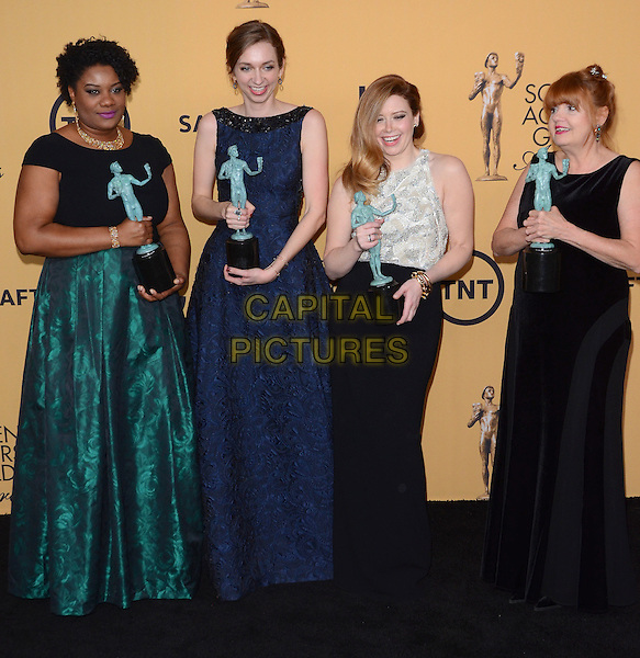 25 January 2015 - Los Angeles, California - Adrienne C. Moore, Lauren Lapkus, Natasha Lyonne, Annie Golden.<br /> 21st Annual SAG Awards Press Room held at the Los Angeles Shrine Exposition Center. <br /> CAP/ADM/BT<br /> &copy;BT/ADM/Capital Pictures