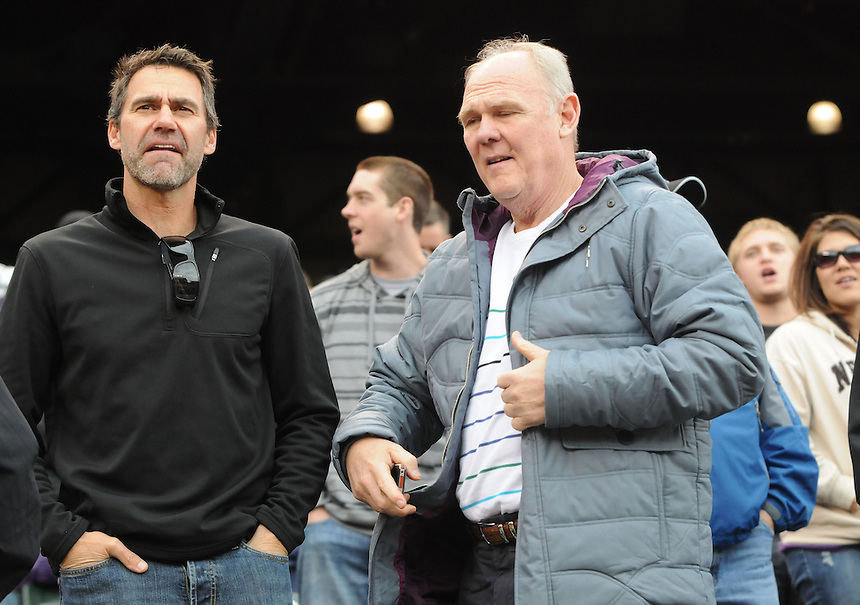 17 MAY 2011: Denver Nuggets head coach George Karl takes in the game with friends during a regular season game between the San Francisco Giants and the Colorado Rockies at Coors Field in Denver, Colorado. The Rockies beat the Giants 5-3 to sweep the two game series.  *****For Editorial Use Only*****