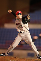 February 26, 2010:  Pitcher Jeremy Burawa of the St. John's Red Storm during the Big East/Big 10 Challenge at Bright House Field in Clearwater, FL.  Photo By Mike Janes/Four Seam Images