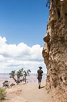 Bright Angel Trail, Grand Canyon, South Rim, Arizona.
