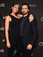 """HOLLYWOOD, CA - MARCH 24: Mandy Moore and Milo Ventimiglia attend PaleyFest 2019 for 20th Century Fox Television's """"This is Us"""" at the Dolby Theatre on March 24, 2019 in Hollywood, California. (Photo by Frank Micelotta/20th Century Fox Television/PictureGroup)"""