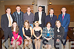 Looking glamorous at the Killorglin Rowing club social in the Killarney Heights Hotel on Saturday night was front row l-r: Aileen Crowley, Monika Dukarska, Deirdre O'Donoghue, Erina McSweeney, Brid Crowley. Back row: Mike Fleming, Pieter Homan, Sean Deinum, Martin Leahy, Terry McSweeney and Declan Crowley