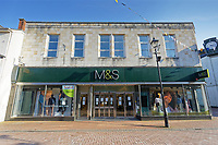 Pictured: The Marks and Spencer store in Neath, Wales, UK. Friday 27 March 2020<br /> Re: Covid-19 Coronavirus pandemic, UK.