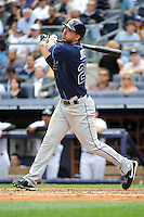 Tampa Bay Rays outfielder Matt Joyce #20 during a game against the New York Yankees at Yankee Stadium on September 21, 2011 in Bronx, NY.  Yankees defeated Rays 4-2.  Tomasso DeRosa/Four Seam Images
