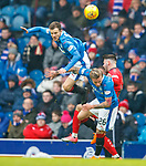 4.3.2018: Rangers v Falkirk Scottish Cup QF<br /> Andy Halliday and Jason Cummings with Reghan Tumilty