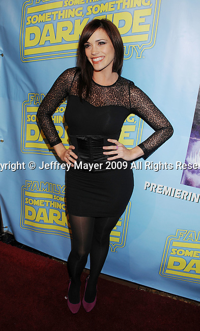"""BEVERLY HILLS, CA. - December 12: Jessica Sutta of the Pussycat Dolls attends the """"Family Guy Something, Something, Something, Dark Side"""" DVD Release Party at a private residence on December 12, 2009 in Beverly Hills, California."""