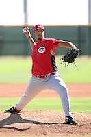 Pedro Villarreal - Cincinnati Reds - 2010 Instructional League.Photo by:  Bill Mitchell/Four Seam Images..
