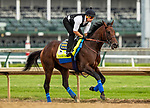 LOUISVILLE, KENTUCKY - MAY 01: Game Winner with Humberto Gomez prepares for the  Kentucky Derby at Churchill Downs in Louisville, Kentucky on May 01, 2019. Evers/Eclipse Sportswire/CSM