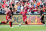 Bayern Munich Midfielder Franck Ribery (C) in action during the 2017 International Champions Cup China  match between FC Bayern and AC Milan at Universiade Sports Centre Stadium on July 22, 2017 in Shenzhen, China. Photo by Marcio Rodrigo Machado / Power Sport Images