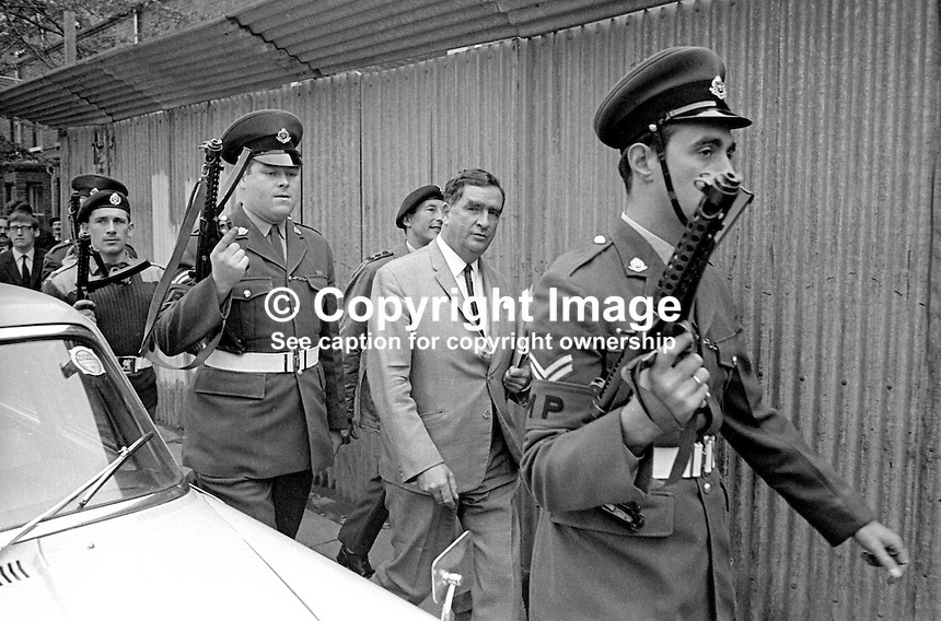 Denis Healey, UK Minister for Defence, in Belfast, N Ireland, during a visit to peace-keeping troops serving in the Province, 18th September 1969, 196909180253b. <br /> <br /> Copyright Image from Victor Patterson, 54 Dorchester Park, Belfast, UK, BT9 6RJ<br /> <br /> t1: +44 28 9066 1296<br /> t2: +44 28 9002 2446<br /> m: +44 7802 353836<br /> <br /> e1: victorpatterson@me.com<br /> e2: victorpatterson@gmail.com<br /> <br /> IMPORTANT: My Terms and Conditions of Business are at www.victorpatterson.com