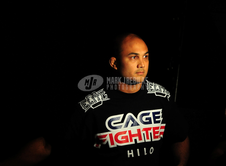Jan. 30, 2009; Las Vegas, NV, USA; UFC fighter B.J. Penn at the weigh in prior to the fight against Georges St-Pierre (not pictured) for the welterweight championship in UFC 94 at the MGM Grand Hotel and Casino. St-Pierre defeated Penn with a fourth round TKO. Mandatory Credit: Mark J. Rebilas-