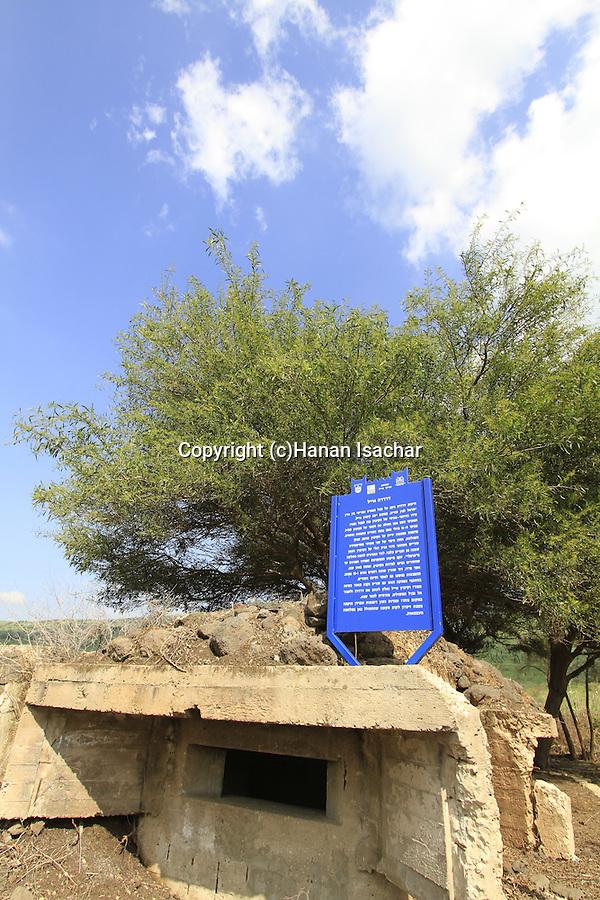 Israel, Upper Galilee, memorial to the fallen defenders of Kibbutz Eyal in Dardara