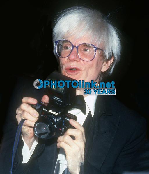 Andy Warhol circa 1980's<br /> Photo By John Barrett/PHOTOlink.net