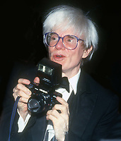 Andy Warhol circa 1980's<br /> Photo By John Barrett/PHOTOlink.net