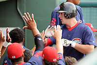 June 5, 2008: Outfielder Jered Stanley (34) of the Greenville Drive, Class A affiliate of the Boston Red Sox, in a game at Fluor Field at the West End in Greenville, S.C. Photo by:  Tom Priddy/Four Seam Images