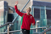 Wednesday 10th September, 2014<br /> Picture: Michaela Breeze<br /> RE: Michaela Breeze at the Commonwealth Games: Homecoming for Team Wales at the Senedd, Cardiff, South Wales, United Kingdom.
