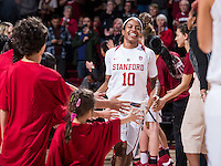 Stanford, CA --February 3, 2017. Stanford Cardinal Women's Basketball vs. University of Southern California. Stanford won 58-42 for Coach Tara VanDerveer's 1000th career win.