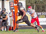 Palos Verdes, CA 10/24/14 - Michael Joncich (Peninsula #4)in action during the Redondo Union - Palos Verdes Peninsula CIF Varsity football game at Peninsula High School.