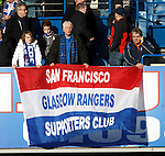 Some far travelled Rangers fans make the trip to Ibrox from California.