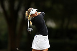 WILMINGTON, NC - OCTOBER 28: UCF's Kaeli Jones on the 12th tee. The second round of the Landfall Tradition Women's Golf Tournament was held on October 28, 2017 at the Pete Dye Course at the Country Club of Landfall in Wilmington, NC.