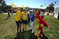 Actio photo during the match Brasil vs Ecuador, at Rose Bowl Stadium Copa America Centenario 2016. ---Foto  de accion durante el partido Brasil vs Ecuador, En el Estadio Rose Bowl, Partido Correspondiante al Grupo -B-  de la Copa America Centenario USA 2016, en la foto: Fans<br /> --- 04/06/2016/MEXSPORT/ Osvaldo Aguilar