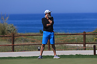 Nick Pugh on the practice green during Round 3 of the Rocco Forte Sicilian Open 2018 on Saturday 12th May 2018.<br /> Picture:  Thos Caffrey / www.golffile.ie<br /> <br /> All photo usage must carry mandatory copyright credit (&copy; Golffile   Thos Caffrey)