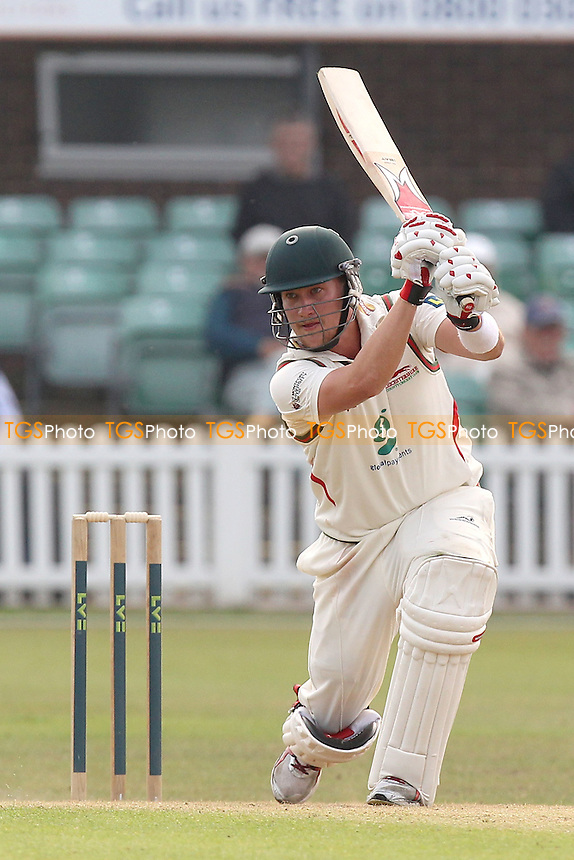 Josh Cobb in batting action for Leicestershire - Leicestershire CCC vs Essex CCC - LV County Championship Division Two Cricket at Grace Road, Leicester - 16/09/14 - MANDATORY CREDIT: Gavin Ellis/TGSPHOTO - Self billing applies where appropriate - contact@tgsphoto.co.uk - NO UNPAID USE