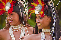 Beautiful Tahitian dancers, Oahu, Hawaii