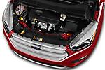 Car Stock 2017 Ford Kuga Titanium 5 Door SUV Engine  high angle detail view