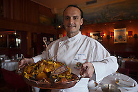 Europe/France/Provence-Alpes-Côte d'Azur/13/Bouches-du-Rhône/Marseille : Christian Buffa chef du  Restaurant Miramar  12 quai du Port - Spécialiste de la Bouillabaisse [Non destiné à un usage publicitaire - Not intended for an advertising use]