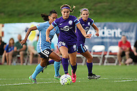 Piscataway, NJ - Wednesday Sept. 07, 2016: Samantha Witteman, Taylor Lytle, Dani Weatherholt during a regular season National Women's Soccer League (NWSL) match between Sky Blue FC and the Orlando Pride FC at Yurcak Field.