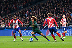 Atletico de Madrid's Antoine Griezmann and AS Monaco's Han-Noah Massengo during UEFA Champions League match between Atletico de Madrid and AS Monaco at Wanda Metropolitano Stadium in Madrid, Spain. November 28, 2018. (ALTERPHOTOS/A. Perez Meca)