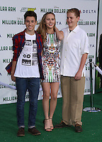 HOLLYWOOD, CA - MAY 6:  Teo Halm, Ella Wahlestedt, Reese Hartwig at the Premiere Of Disney's 'Million Dollar Arm'  on May 6, 2014 at El Capitan Theatre in Hollywood, California. Credit: SP1/Starlitepics /nortephoto.com
