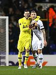 Tottenham's HUgo Llorsi and Toby Alderweireld celebrate at the final whistle<br /> <br /> UEFA Europa League - Tottenham Hotspur v Monaco - White Hart Lane - England -10th December 2015 - Picture David Klein/Sportimage