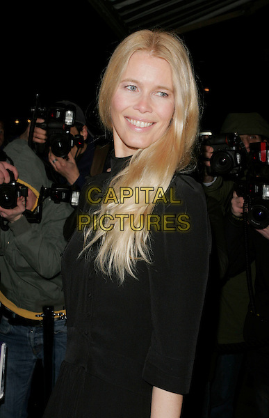 CLAUDIA SCHIFFER.At the Celebration Of Film Dinner, Ceccioni's, London, England, February 6th 2009..half length black .CAP/AH.©Adam Houghton/Capital Pictures