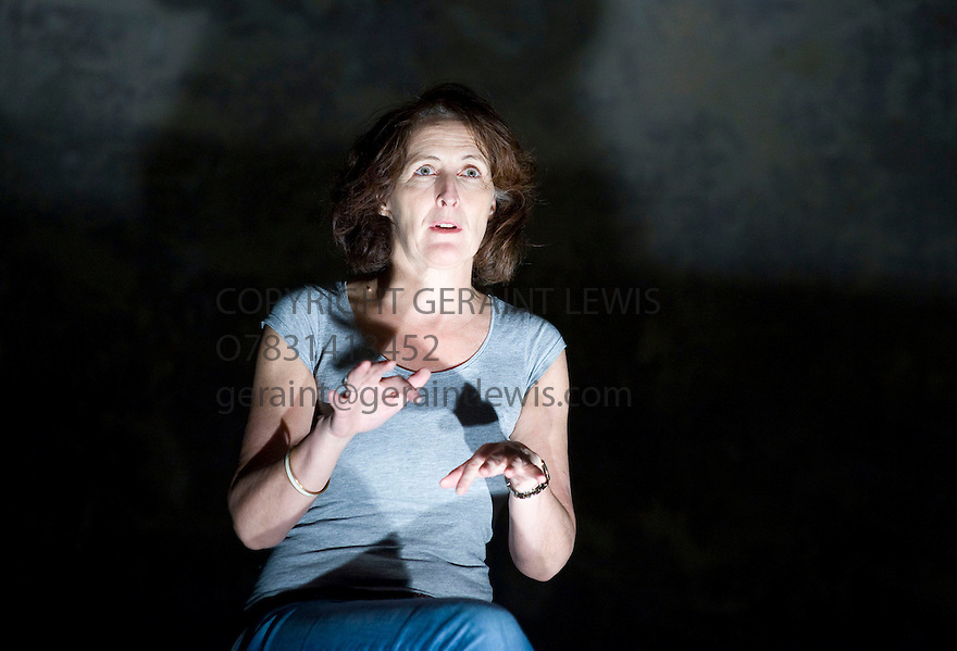 The Waste Land by T S Eliot,directed by Deborah Warner.With Fiona Shaw.Opens at Wilton's Music Hall  on 30/12/09. Credit Geraint Lewis