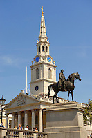 Saint Martin's In the Field church and Trafalgar Square London